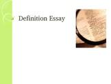 Definition Essay Powerpoint
