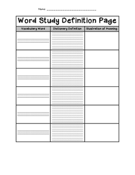 Definition Page