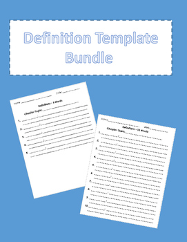 Definition Template Bundle