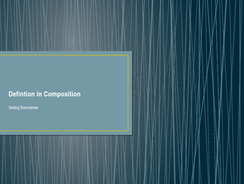 Definition in Composition