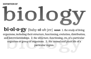 Definition of Biology Poster
