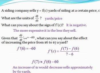 Definition of Derivative - Using delta x (PP)