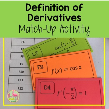 Calculus: Definition of Derivatives Match Up Activity