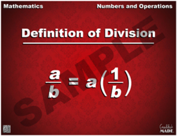 Definition of Division Math Poster