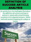 Definition of Success Article Analysis