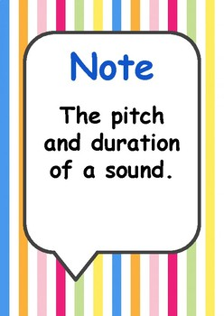 Definitions Posters for the Music Classroom 2