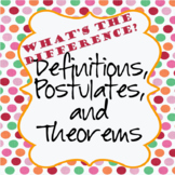Definitions, Postulates, and Theorems Explained