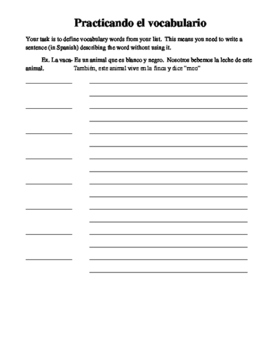 Definitions Writing Assignment