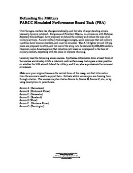 Defunding the Military Synthesis Prompt:  PARCC and CC Aligned
