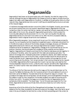 Deganawidah Article Biography and Assignment