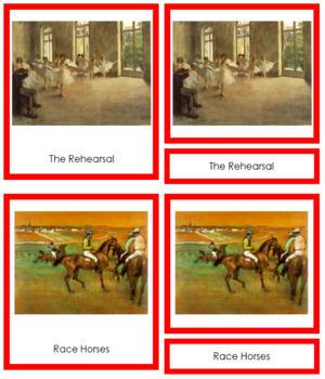 Degas (Edgar) 3-Part Art Cards - Color Borders