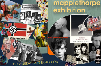 Degenerate Art - Nazis & Robert Mapplethorpe - First Amendment - FREE POSTER