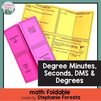 Degree, Minute, Seconds (DMS) and Degree Foldable