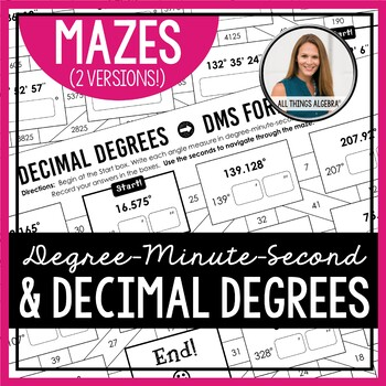 Degrees Minutes Seconds (DMS) and Decimal Degrees (DD) Mazes