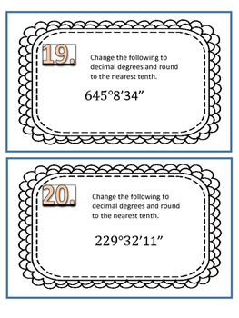 Degrees, Minutes, Seconds, and Decimal Degrees