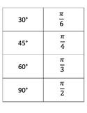 Degrees & Radians Matching Game