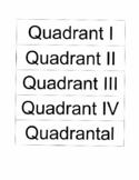 Degrees, Radians, and Quadrants Matching Activity