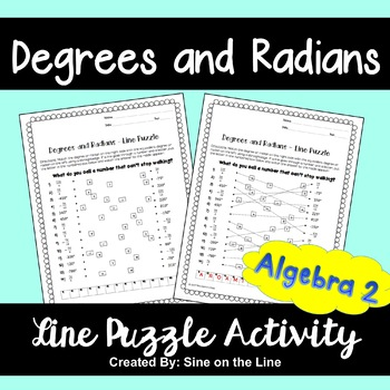 Degrees and Radians: Line Puzzle Activity