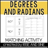 Degrees and Radians Matching Activity