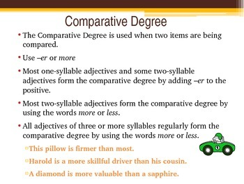 Degrees of Comparison-Adjectives Power Point Presentation