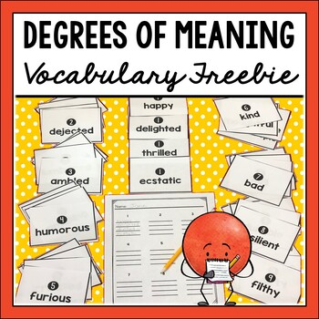 Degrees of Meaning Synonym and Antonym Freebie