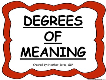 Degrees of Meaning Thermometer
