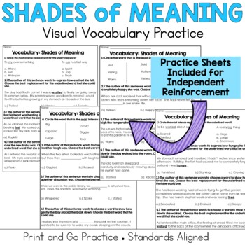 Degrees of Meaning: Word Gradient Activities