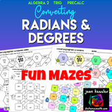 Converting Degrees and Radians Mazes