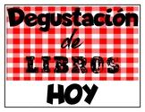 Degustación de libros- Book Tasting Spanish (español)
