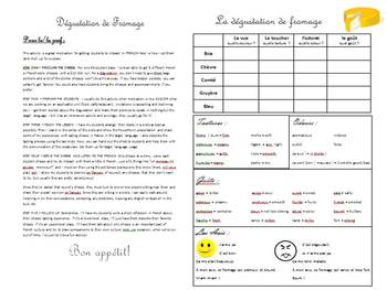 Dégustation de Fromage - French Cultural/Experiential Activity - Any Level