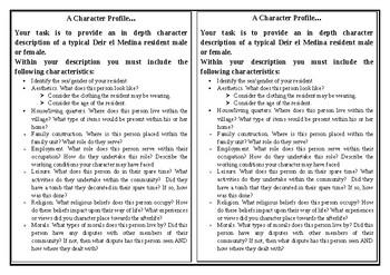 Deir el Medina - Ancient History - Character Analysis