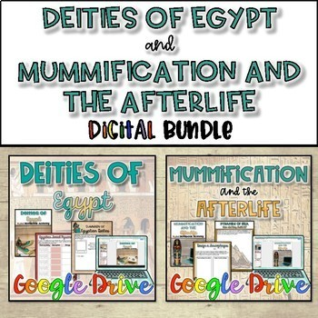 Deities of Egypt and Mummification & the Afterlife Bundle {Digital}