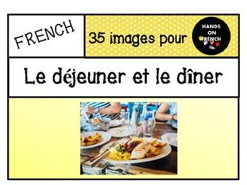 Déjeuner et dîner - 35 images to print and discuss