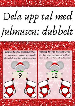 Dela upp tal med julmusen: dubbelt