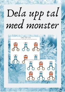 Dela upp tal med monster