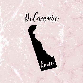 Delaware Clipart, USA State Vector Clipart, Delaware Home, Gold US Clipart