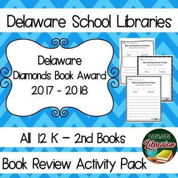 Delaware Diamond Book Award 2017 - 2018 Book Review Activity Pack NO PREP