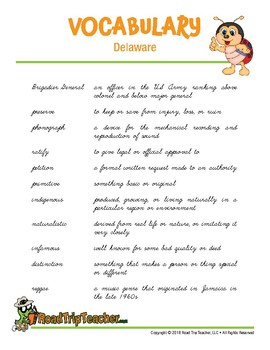 Delaware Handwriting Printables (Cursive Edition)