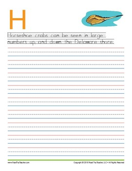 Delaware Handwriting Printables (Manuscript Edition)