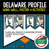 Delaware History Word Wall, State Profile, Delaware Activities