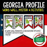 Georgia History Word Wall, State Profile, Activity Pages