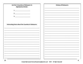 Delaware Interactive Notebook