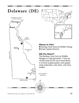 Delaware (Map & Facts)