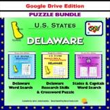 Delaware Puzzle BUNDLE - Word Search & Crossword Activities - US States - Google