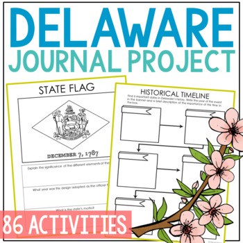 DELAWARE State History Guided Research Project, Notebook Journal {EDITABLE}