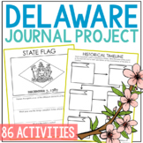 DELAWARE History Project, Differentiated State Research Journal {EDITABLE}
