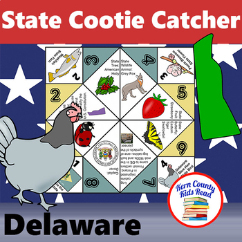 Delaware State Facts and Symbols Cootie Catcher Fortune Teller