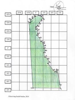 Delaware State Latitude and Longitude Coordinates Puzzle - 37 Points to Plot