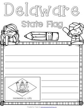 Delaware State Symbols Notebook