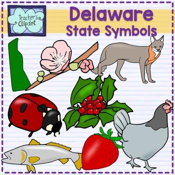 Delaware state symbols clipart